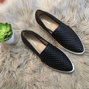 Nine West | Black 'Damian' Quilted Pointy Slip On